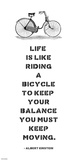 A. Einstein Bicycle Quote Prints by Veruca Salt