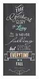 The Greatest Glory - Nelson Mandela Quote Prints by Veruca Salt