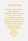 The Lord's Prayer - Gold Posters by Veruca Salt