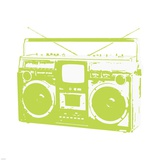 Lime Boom Box Poster by Veruca Salt