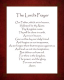 The Lord's Prayer - Red Poster by Veruca Salt