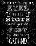 Keep Your Eyes On the Stars - black Prints by Veruca Salt
