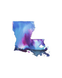 Louisiana State Watercolor Plakater af Jessica Durrant
