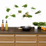 Different Herbs Kalkomania ścienna