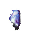 Illinois State Watercolor Print by Jessica Durrant