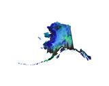 Alaska State Watercolor Plakater af Jessica Durrant