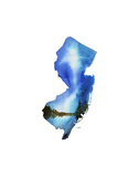 New Jersey State Watercolor Posters by Jessica Durrant