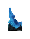 Idaho State Watercolor Print by Jessica Durrant