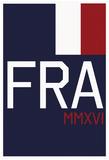 FRA MMXVI Vertical Navy Flag Fan Sign Posters