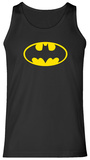 Tank Top: Batman- Yellow Logo Tank Top