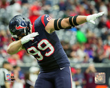 J.J. Watt 2015 Playoff Action Photo