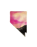 Nevada State Watercolor Posters af Jessica Durrant