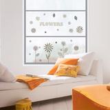 Pattern Flowers Stickers pour fenêtres