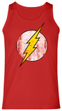 Tank Top: The Flash- Distressed Yellow Logo Tank Top
