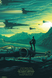 Star Wars: The Force Awakens- Takodana Sunrise Print