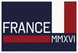 France MMXVI Horizontal Navy Flag fan sign Prints