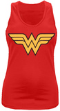 Juniors Tank Top: Wonder Woman- Wings Logo Camiseta sin mangas