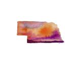 Nebraska State Watercolor Kunst af Jessica Durrant