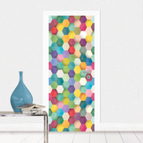 Funny Colours Door Mural Vægplakat