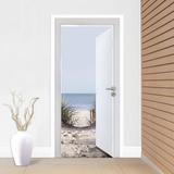 Open Door To The Beach Door Mural Bildtapet (tapet)