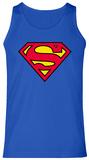 Tank Top: Superman- Shield Logo Camiseta sin mangas