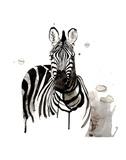 Zebra I Plakater af Philippe Debongnie
