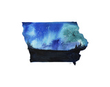 Iowa State Watercolor Plakaty autor Jessica Durrant