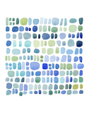 Series Sea Glass No. III Plakater af Louise van Terheijden