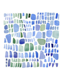 Series Sea Glass No. IV Prints by Louise van Terheijden