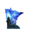 Minnesota State Watercolor Poster par Jessica Durrant