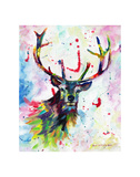 Color Stag Prints by Sarah Stribbling
