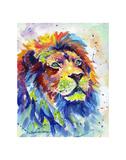 Colorful African Lion Kunstdrucke von Sarah Stribbling
