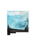 Jessica Durrant - New Mexico State Watercolor - Reprodüksiyon