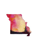 Missouri State Watercolor Posters by Jessica Durrant