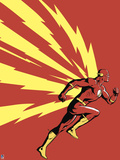 Retro Revisited - DC Comics Art Featuring Flash Poster