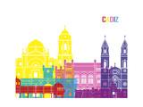 Cadiz Skyline Pop Prints by  paulrommer