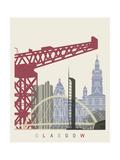 Glasgow Skyline Poster Pósters por  paulrommer