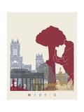 paulrommer - Madrid Skyline Poster Obrazy