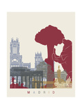paulrommer - Madrid Skyline Poster - Reprodüksiyon