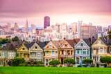San Francisco, California Cityscape at Alamo Square. Photographic Print by  SeanPavonePhoto