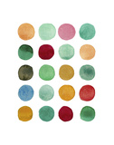 Series Colored Dots No. I Prints by Louise van Terheijden