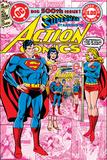 Superman Comics Art Featuring Supergirl Poster