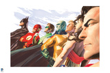 Justice League Comics Art with Multiple Characters - Group Image Posters