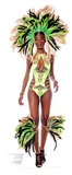 Mardi Gras Brazilian Babe Pappfigurer