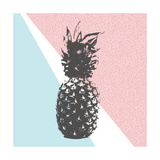 Retro Summer Pineapple Design with 80S Shapes Posters by  cienpies