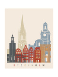 Stockholm Skyline Poster Prints by  paulrommer