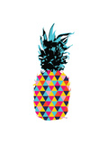 Summer Pineapple Design with Color Hipster Shapes Art by  cienpies