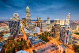 Charlotte, North Carolina, USA Uptown Cityscape. Photographic Print by  SeanPavonePhoto