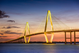 Charleston, South Carolina, USA at Arthur Ravenel Jr. Bridge. Photographic Print by  SeanPavonePhoto