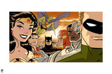 Justice League Comics Art with Multiple Characters - Group Image Prints